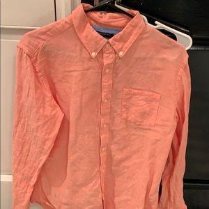 Linen/cotton men's button down shirt banana republ